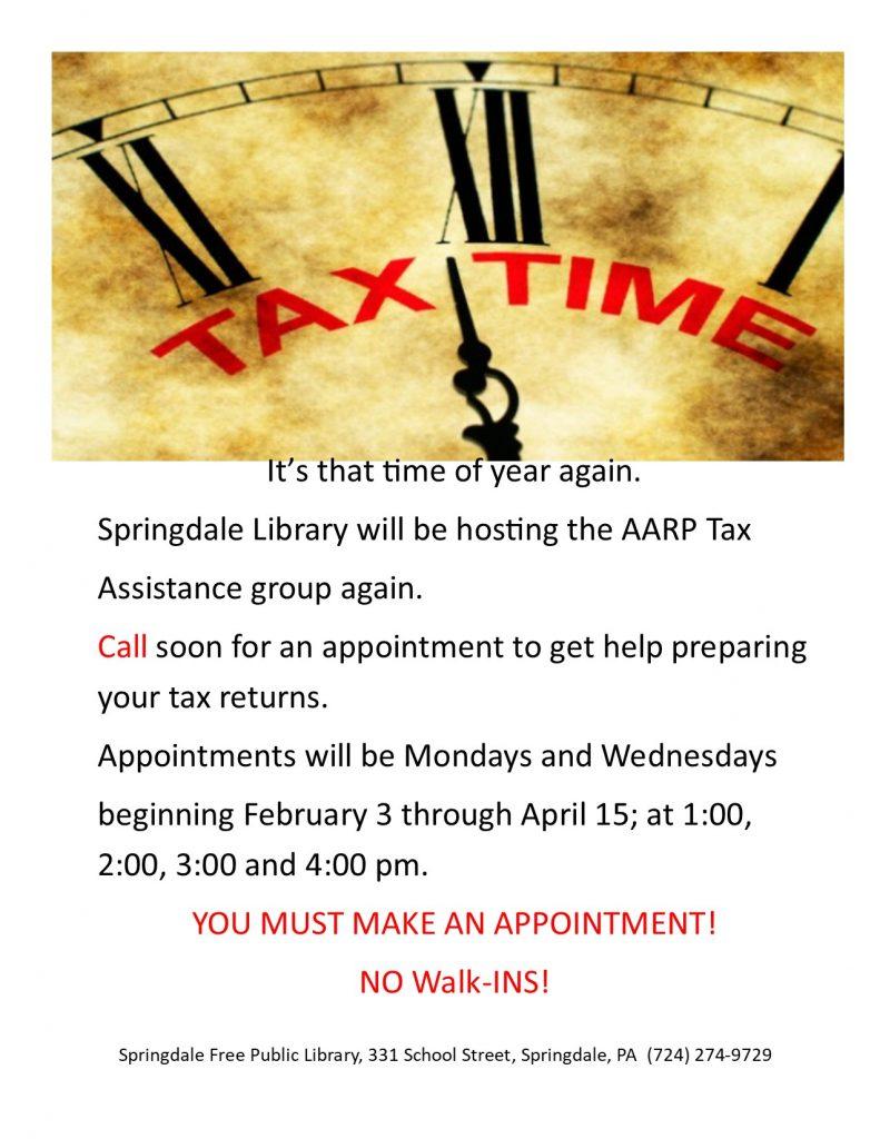 Tax Time Again!