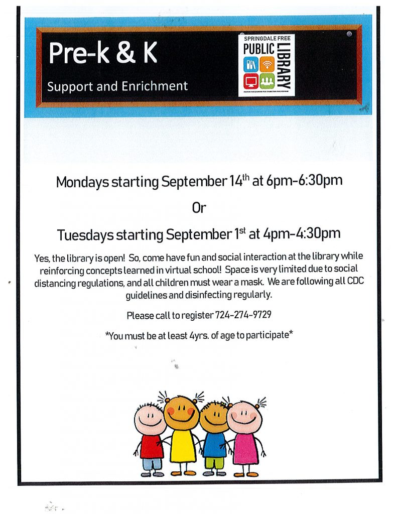 New Program for Pre-K & K