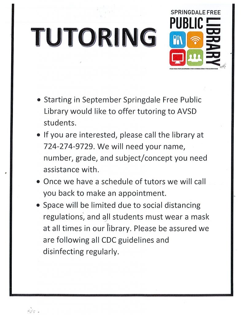 Tutoring for AVSD Students