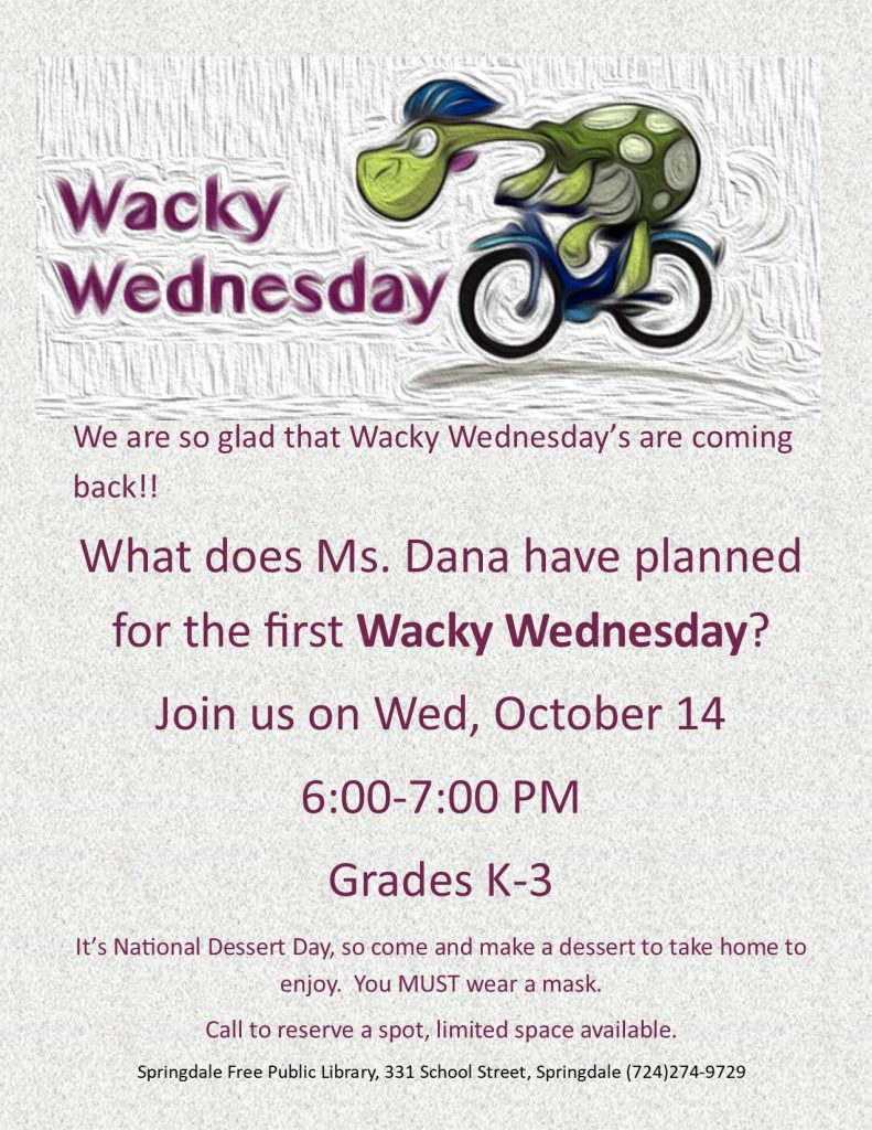 Wacky Wednesday is back!