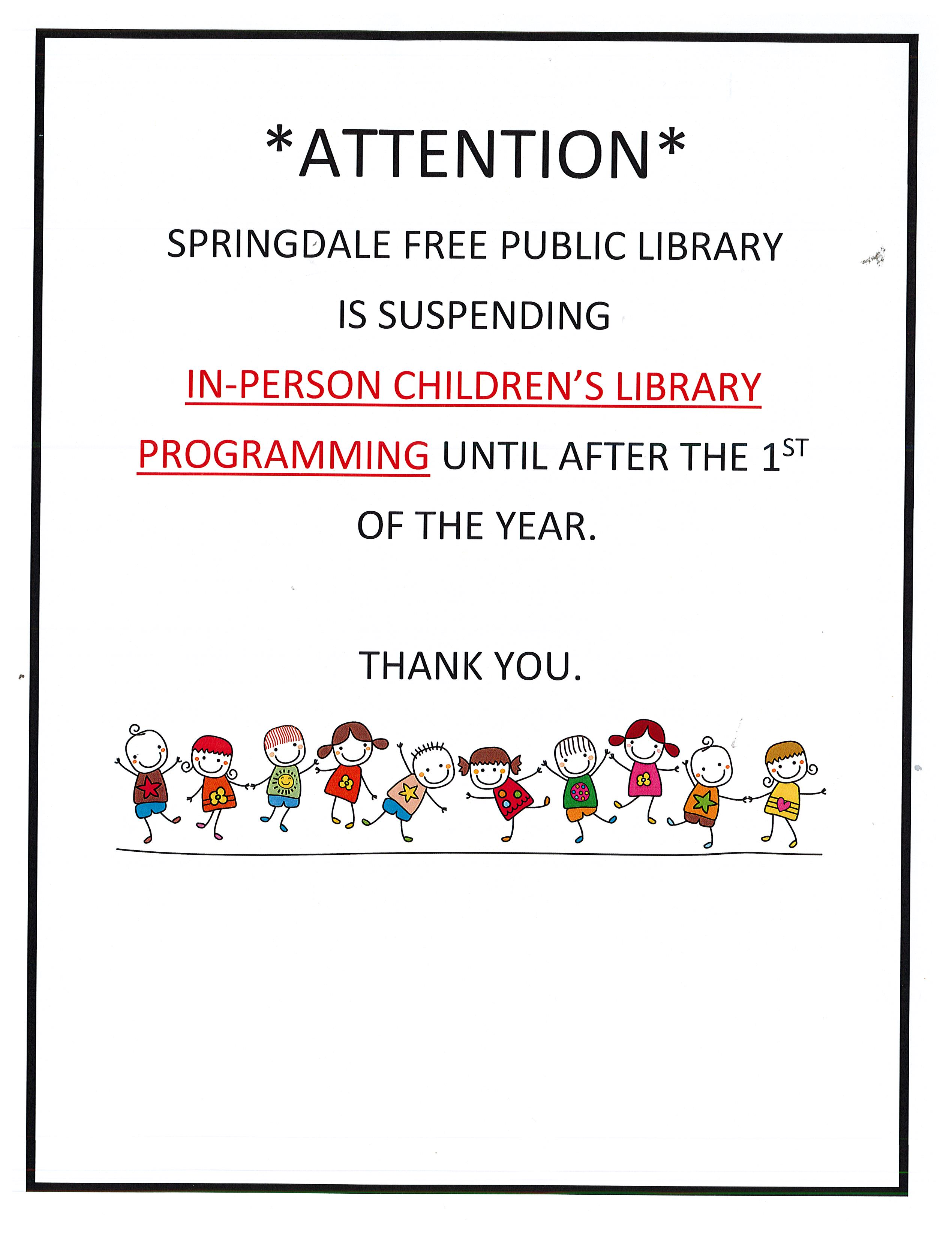 Changes to Children's Programming-Please Read