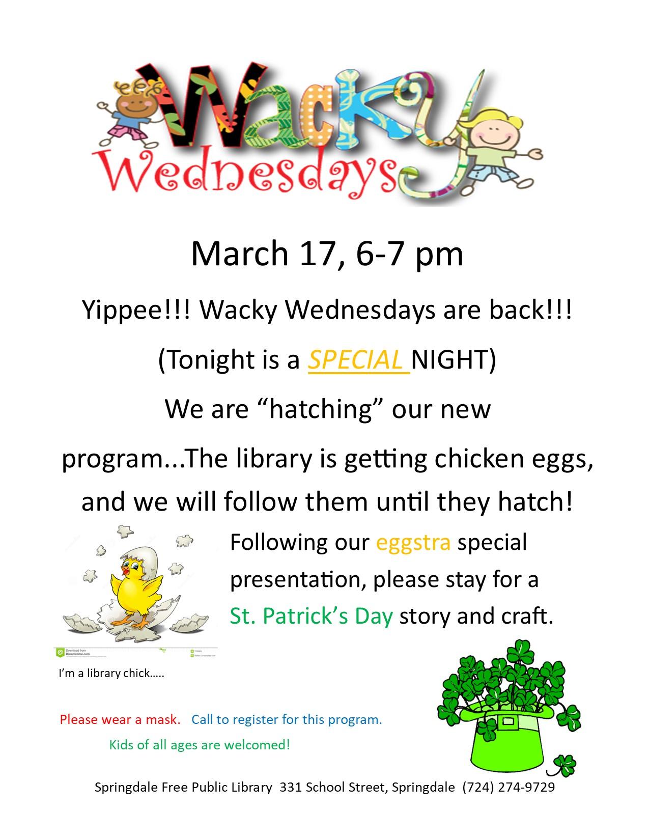Wacky Wednesday March 17