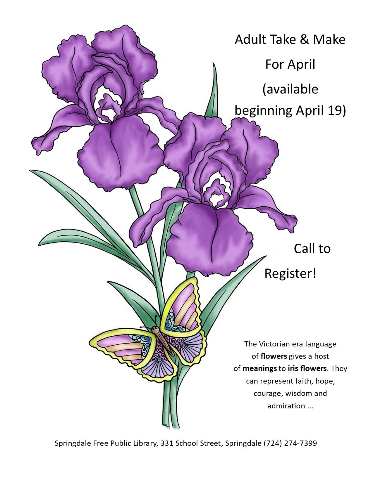 Adult Take & Make Kits for April