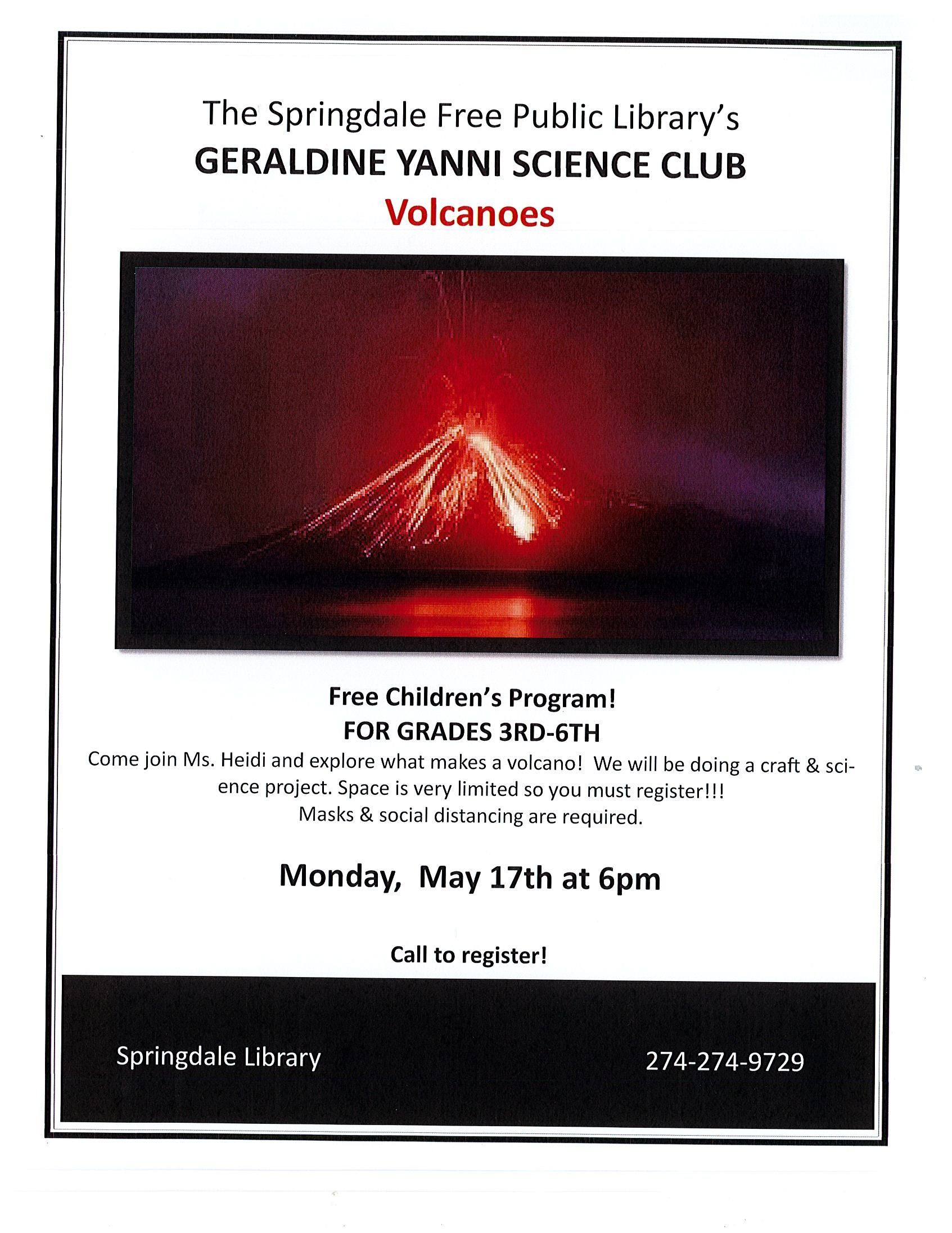 Geraldine Yanni Science Club