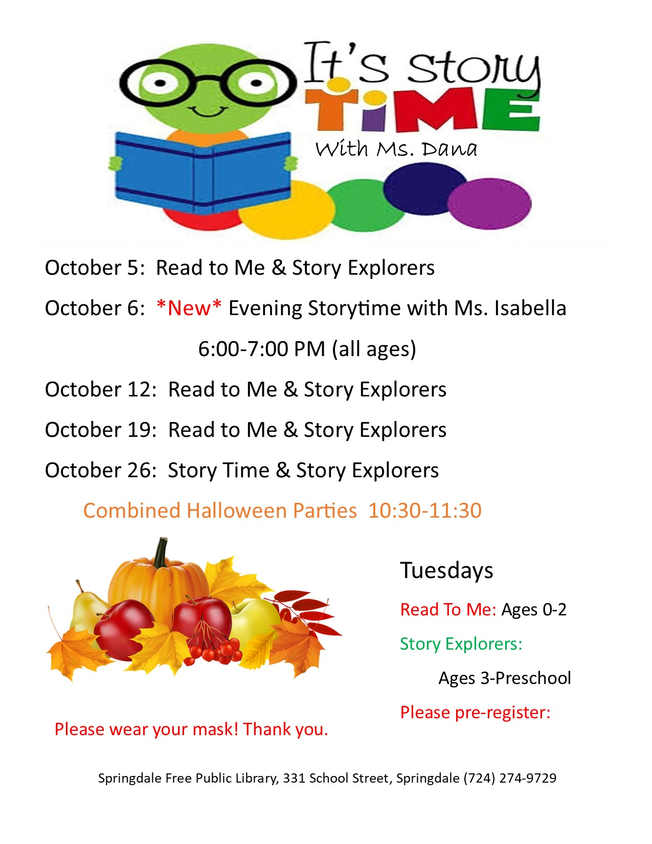 October Storytimes