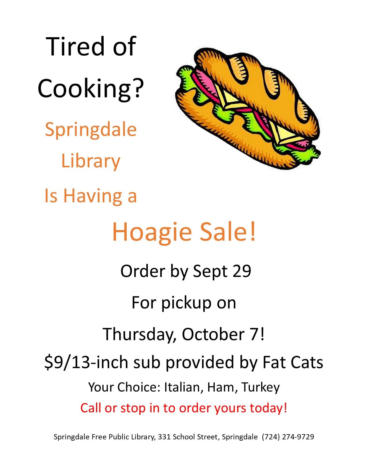 Hoagie Sale
