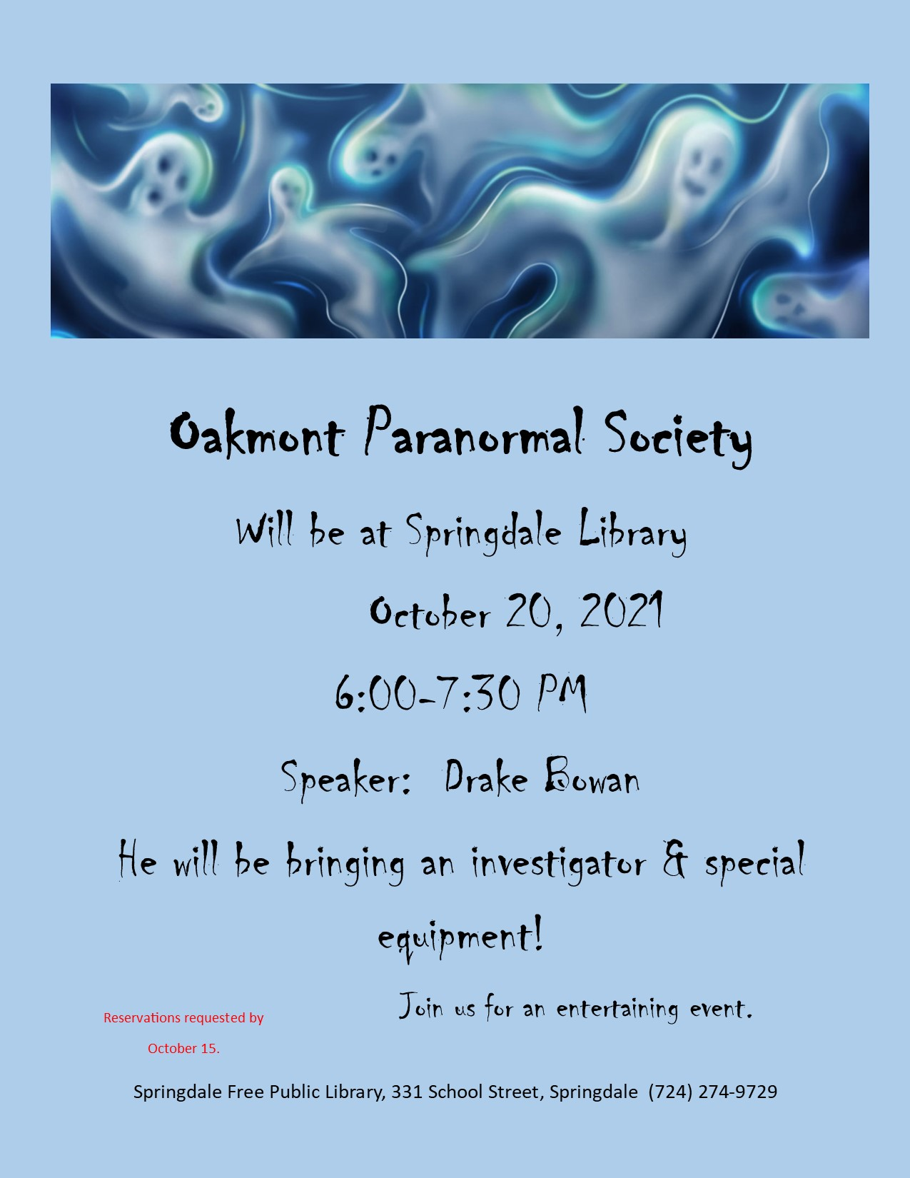 Join us for a Paranormal Evening