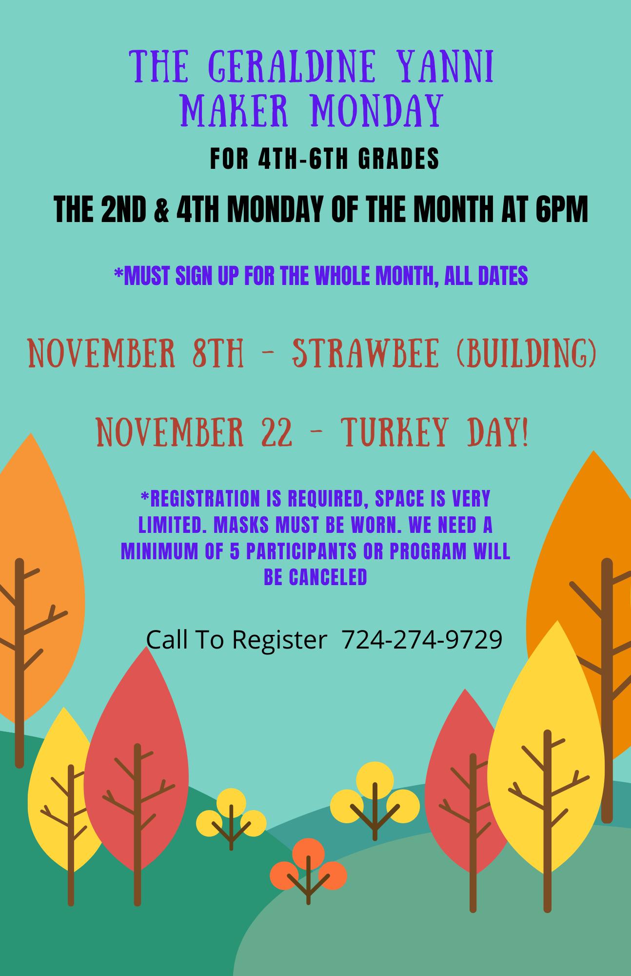 November's Geraldine Yanni Maker Mondays